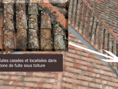 Inspection technique de toiture avec zoom en 4K